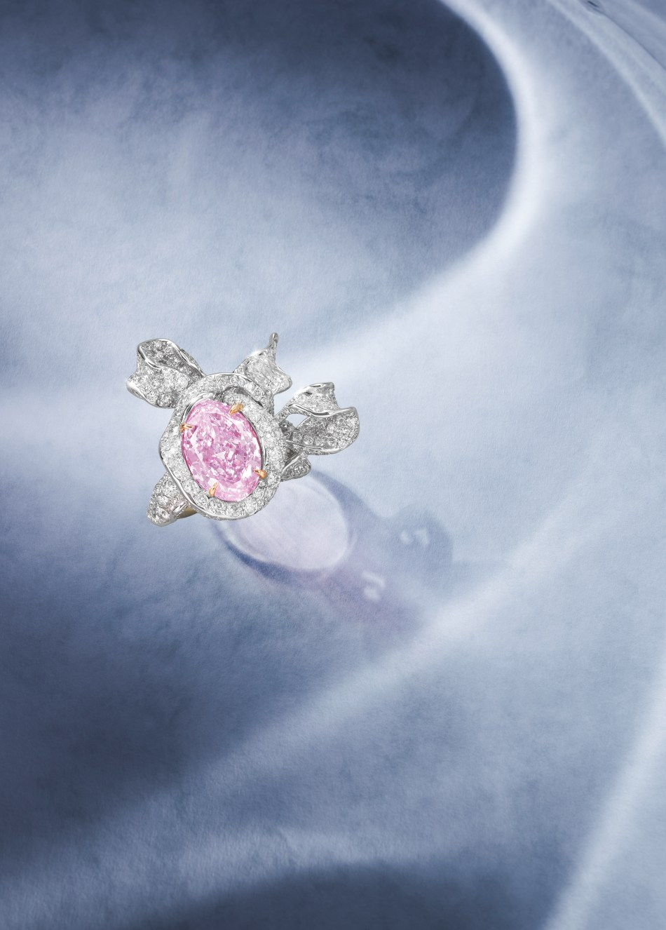 A Fancy Coloured Diamond and Diamond dress ring by Cindy Chao