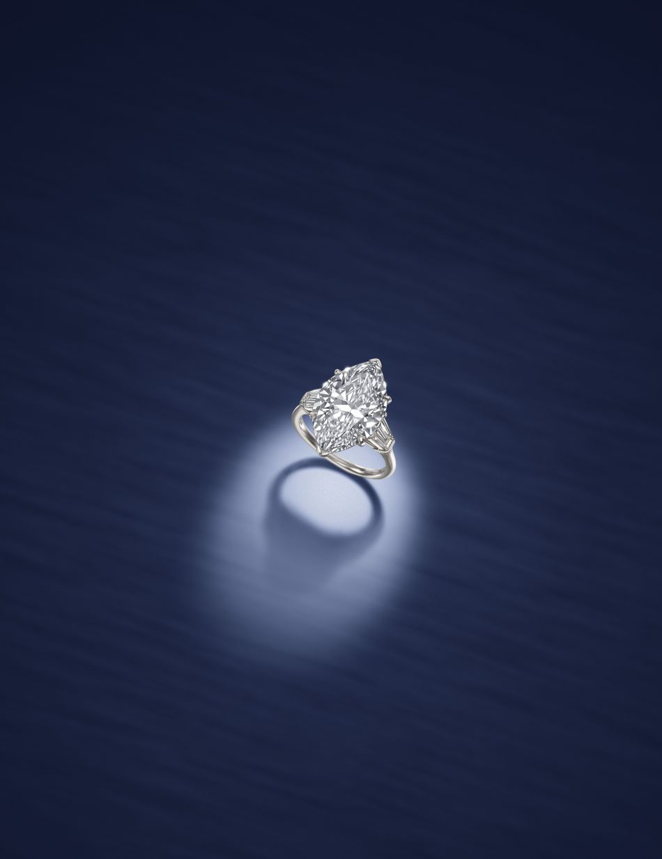 An Important Diamond Ring by Harry Winston. Lot 123