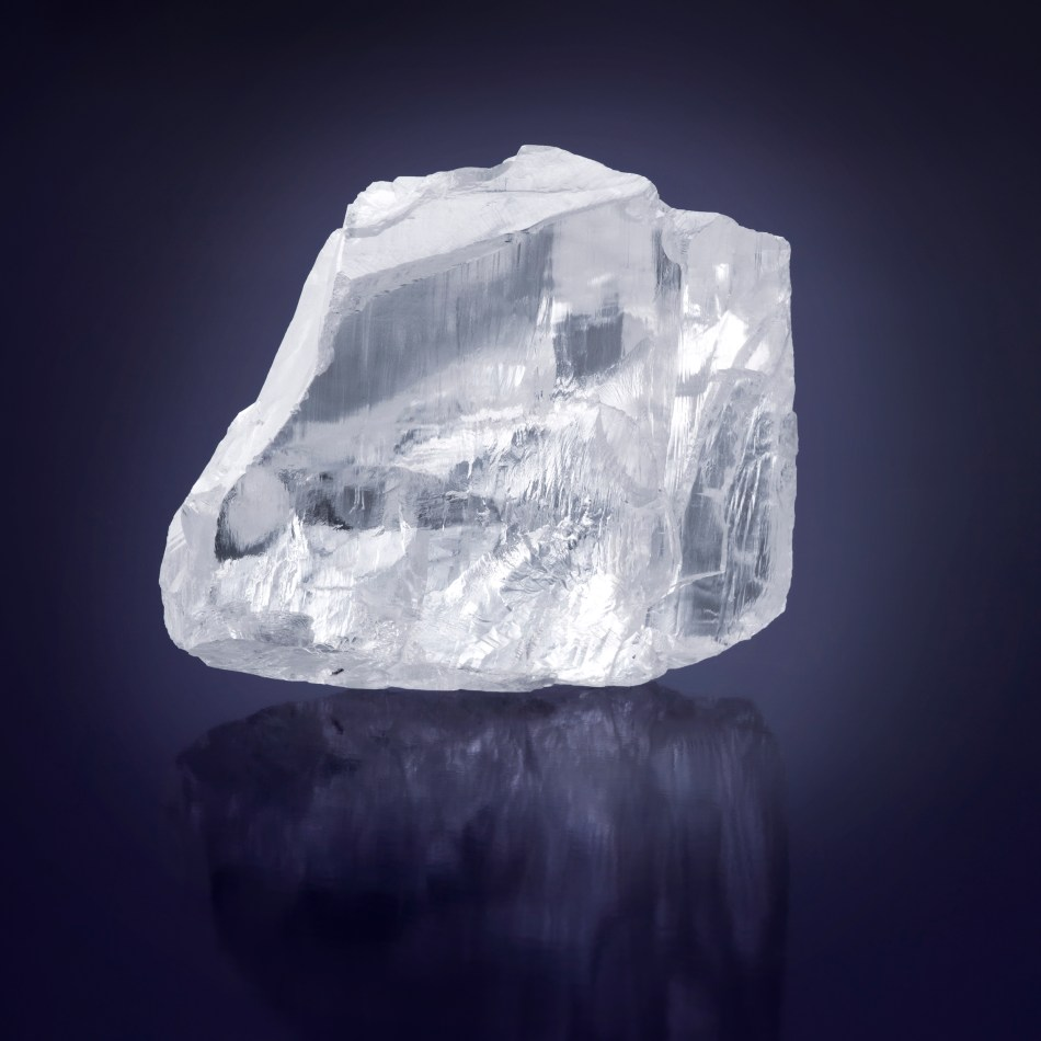 The 476 carat Meya Prosperity rough diamond ©Donald Woodrow