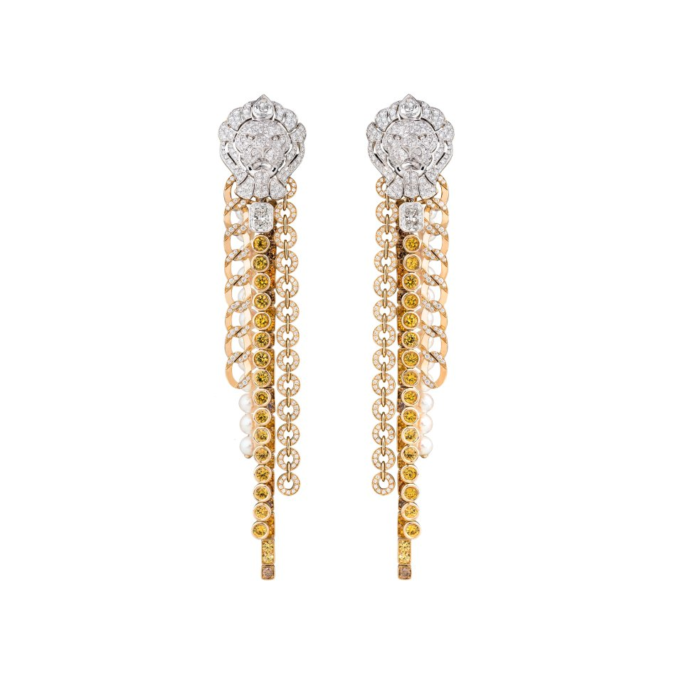 Chanel L'Esprit du Lion Earrings Brillant
