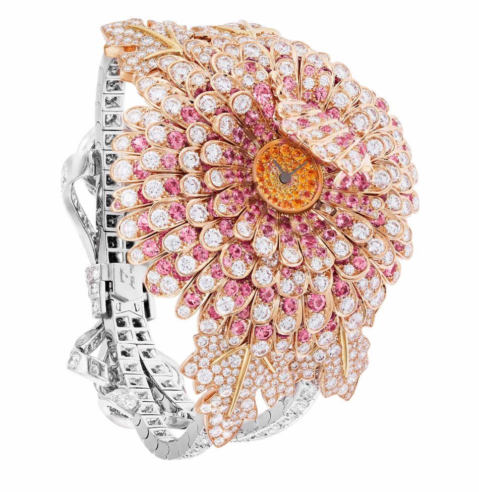 SIHH2018 Le Jardin Van Cleef & Arpels Chrysanthème Secret Watch