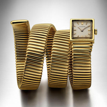 Bulgari Watch Bracelet Tubogas in yellow gold. 1949, Private Collection.