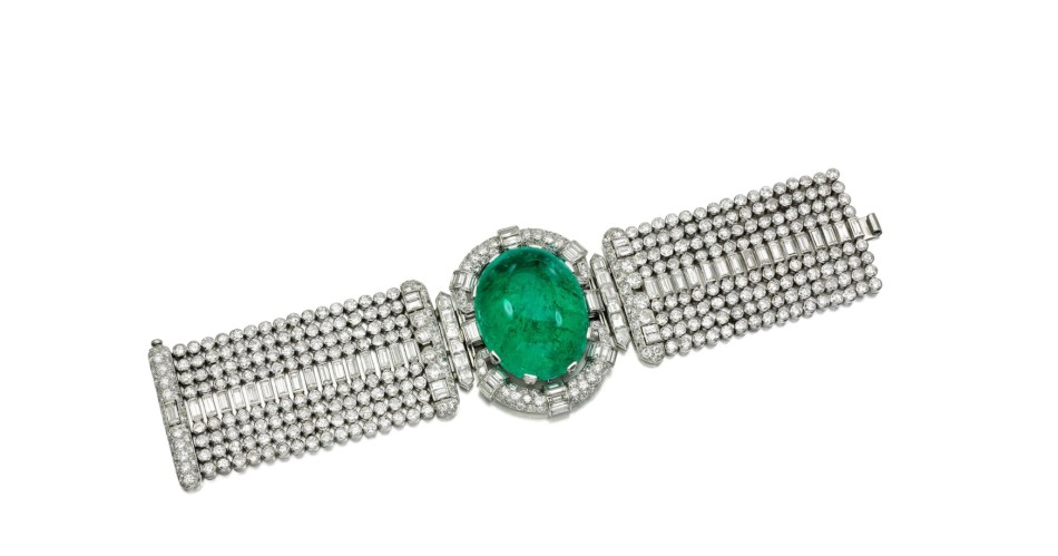 Emerald and Diamond Bracelet Sotheby's Geneva Magnificent Jewels and Noble Jewels May 2018