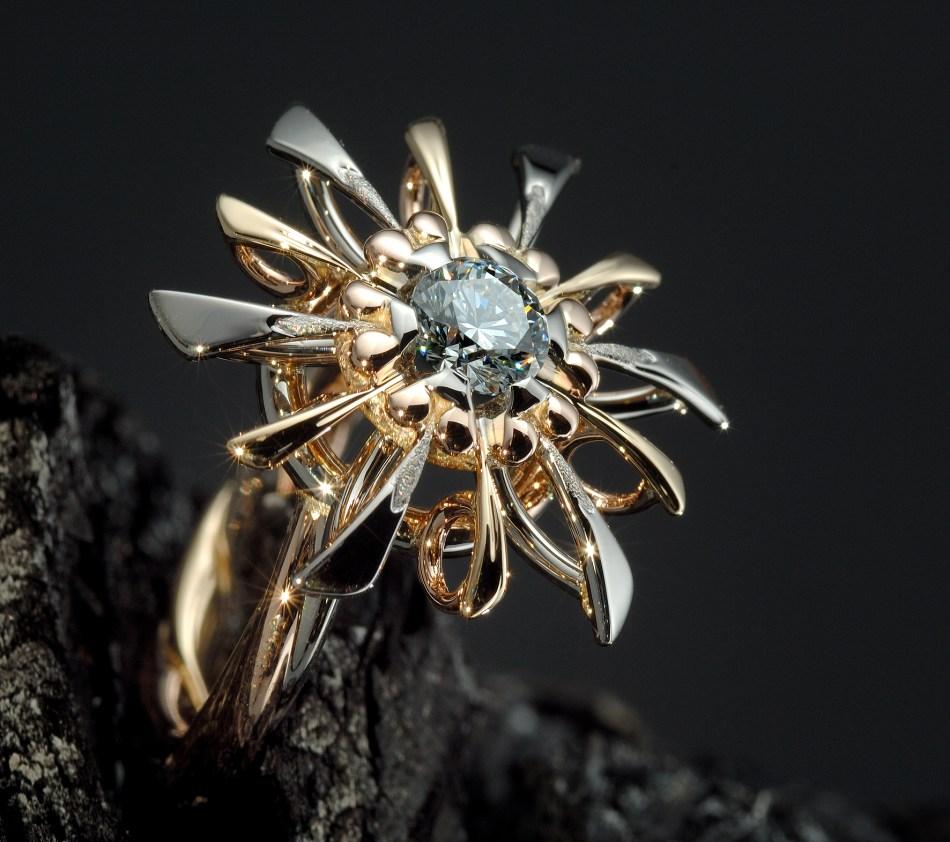 GemGenève Pierre d'Alexis - Fleur cosmique ring