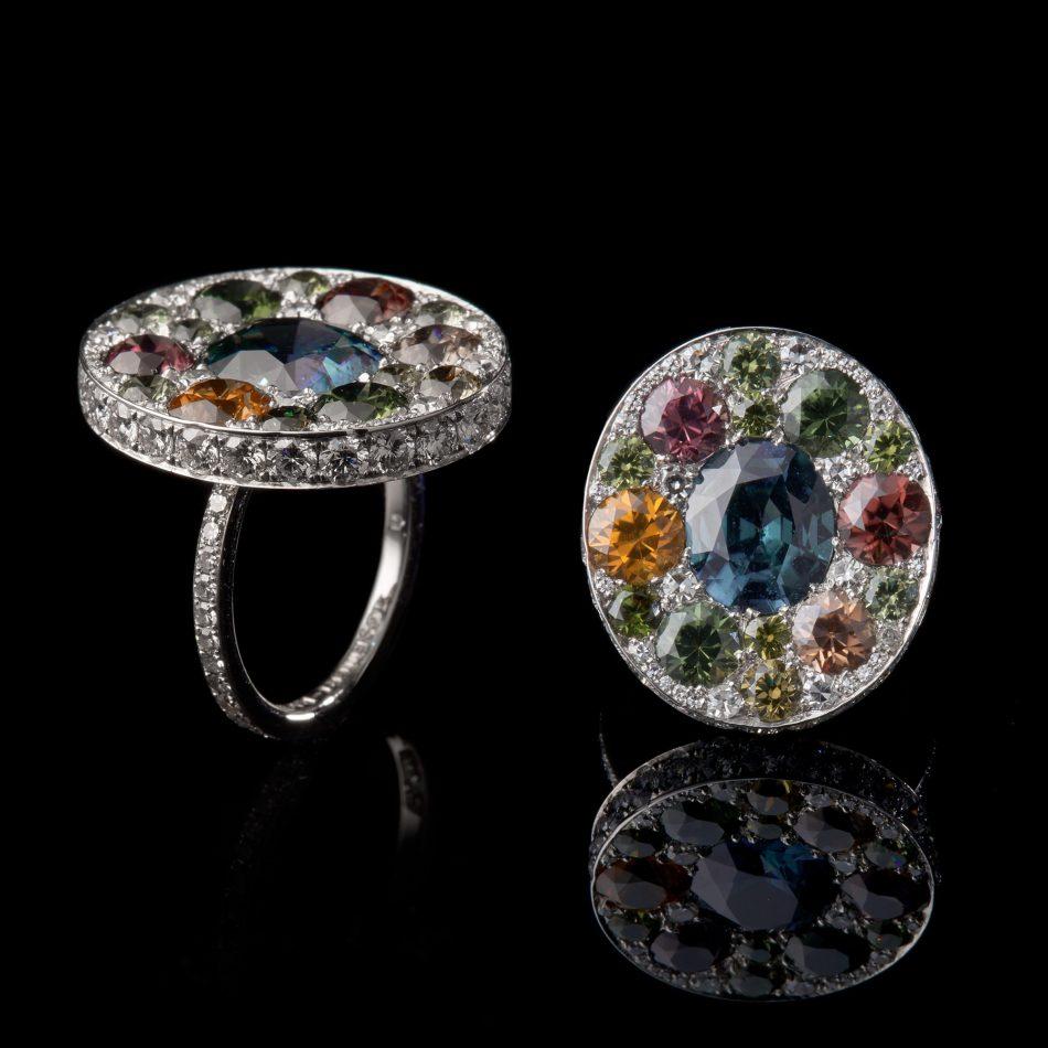 GemGenève Oselieri-Racine Vitrail လက်စွပ်