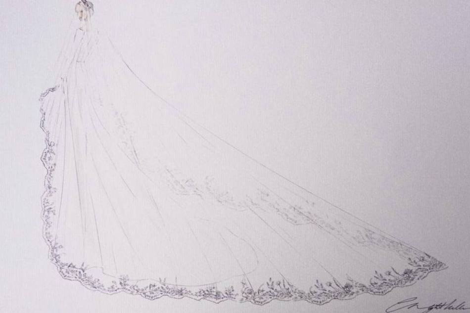 Meghan Markle wedding dress (kensignton palace)