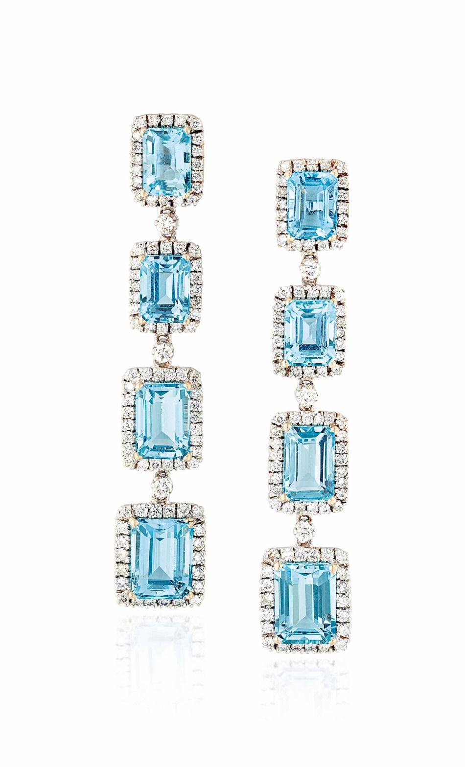 Lot 83 (aquamarine_and_diamond_earrings)