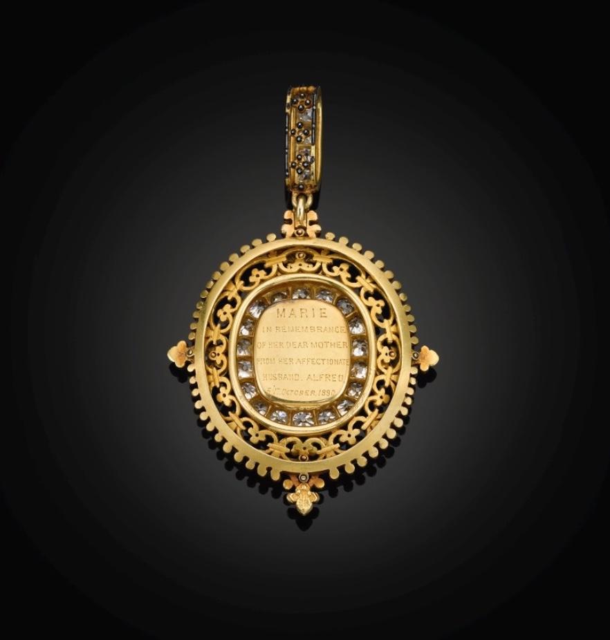 Ķeizarienes Marijas Aleksandrovnas dimanta portreta kulons