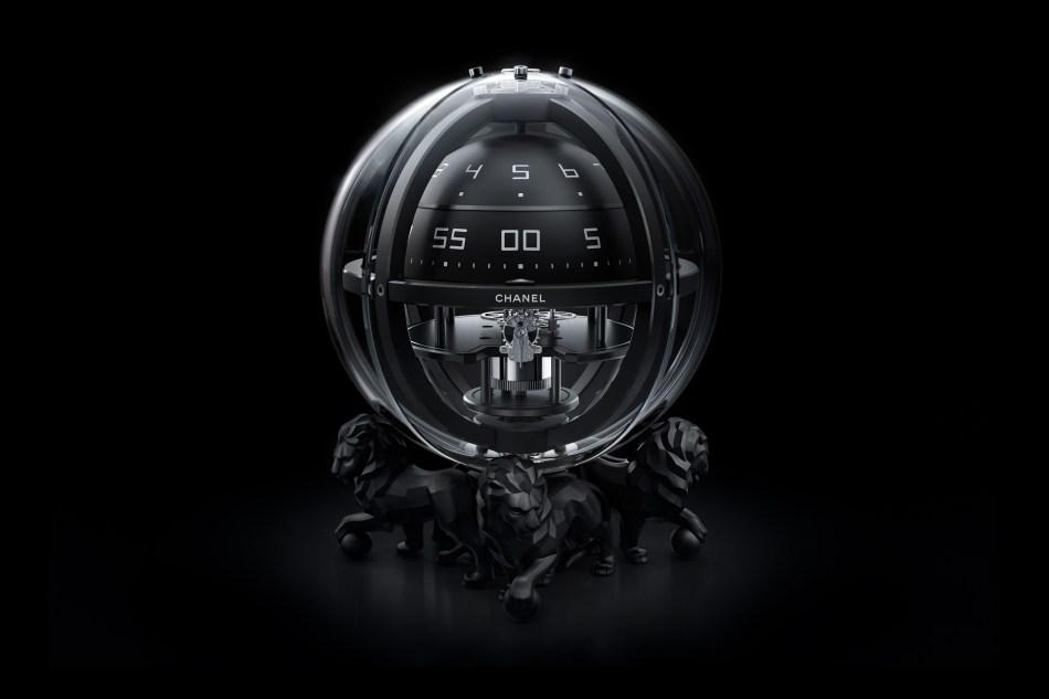 Chanel watches. Monsieur Chronosphère Clock.