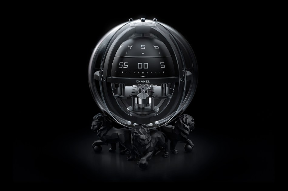 Chanel watches. Monsieur Chronosphère Clock.