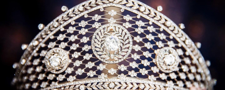 Diamant tiara, zougewisen un de Fabergé, ëm 1903