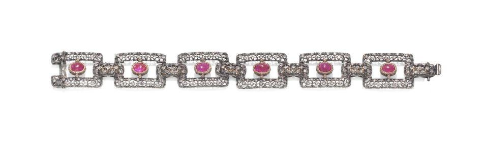 マリオ・ブッカラティによるルビーとダイヤモンドのブレスレット