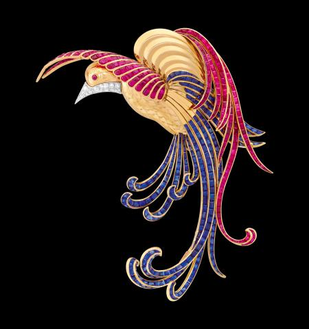 Van Cleef & Arpels. Oiseau de Paradis Clip.