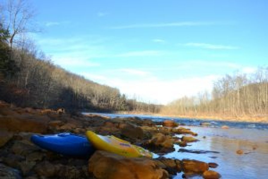 Kayaks on the Cheat River