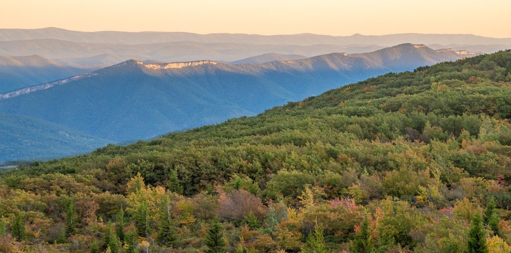North Fork Mountain from Bear Rocks