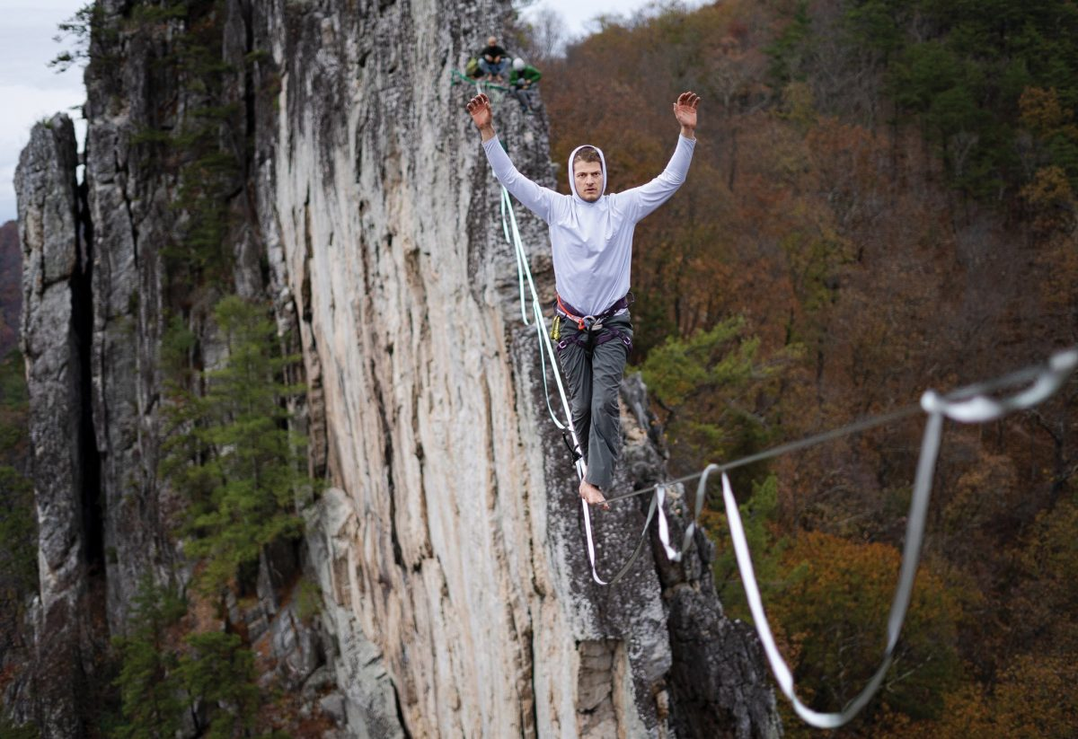 Seneca Rocks Highline: Walking the Line