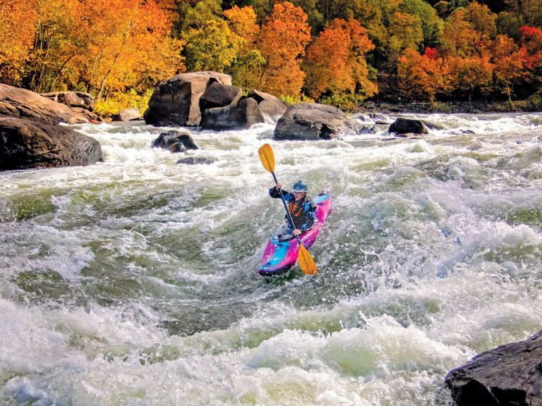 Molly Wolff Paddling the New River
