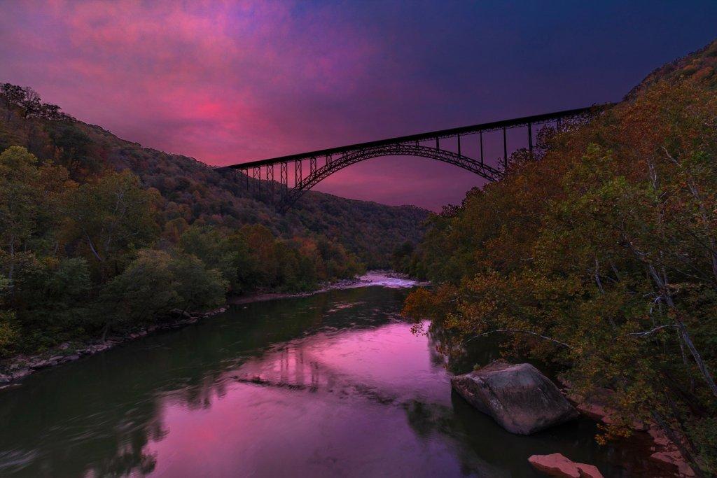 New River Gorge National Park: Bridge Sunset