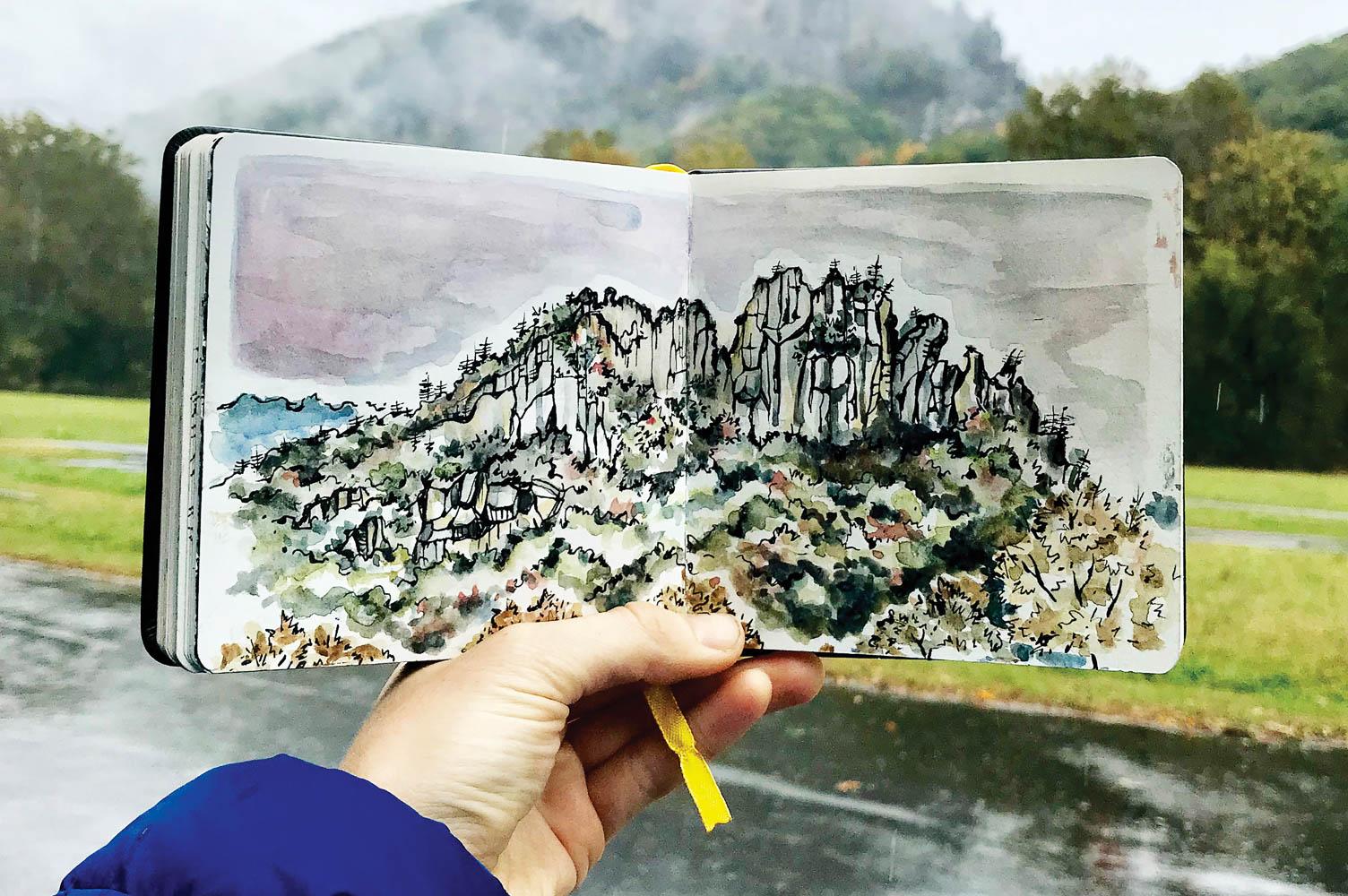 WV Art - Hazlett Seneca Sketch