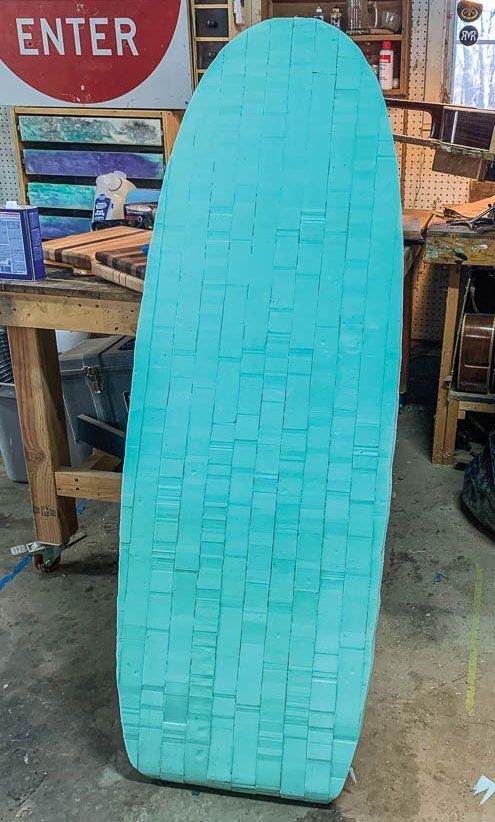 River surfboard: Foam shape