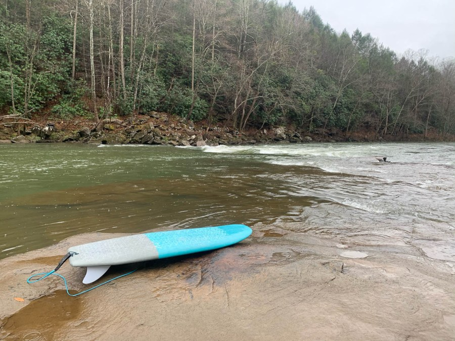 River board on the Gauley