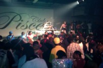 Negus of Textra on stage at Club Pisces