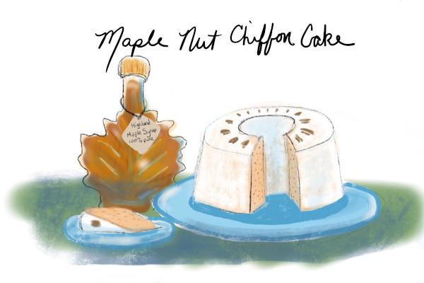Highland County, Virginia, Maple Festival, maple, syrup, candy, maple nut chiffon cake, Hiner Church of the Brethren, homemade, cake, dessert, recipe