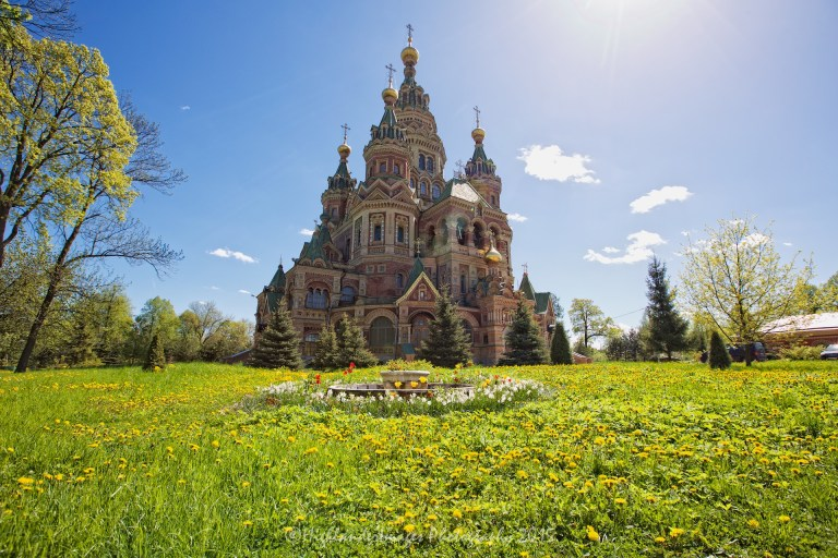 Peter & Paul Church, Peterhof, St. Petersburg, Russia.