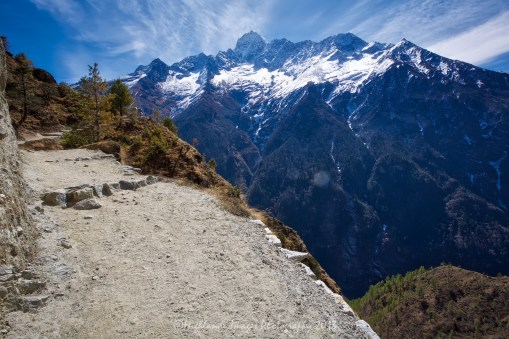 As we headed up the trail between Namche Bazaar and Tengboche we had wonderful views of Mount Everest and the surrounding mountains such as Taboche, Nuptse, Lhotse, Lhotse Shar and Ama Dablam.