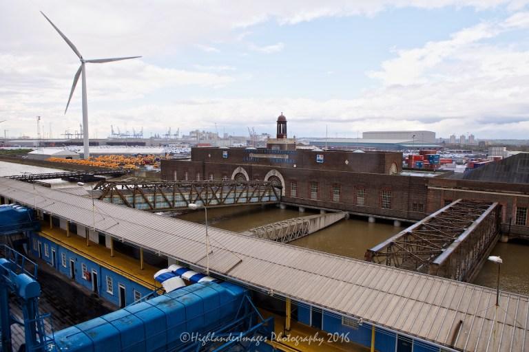 Boarding the Marco Polo at Tilbury Docks, London