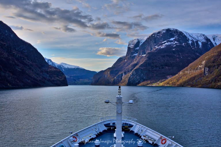 Sailing from Eidfjord to Flåm, Norway aboard Marco Polo