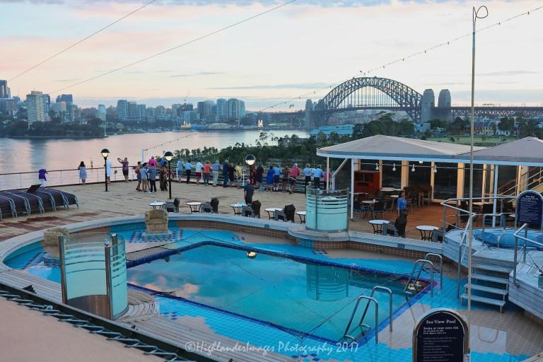 Noordam arriving into Sydney, Australia
