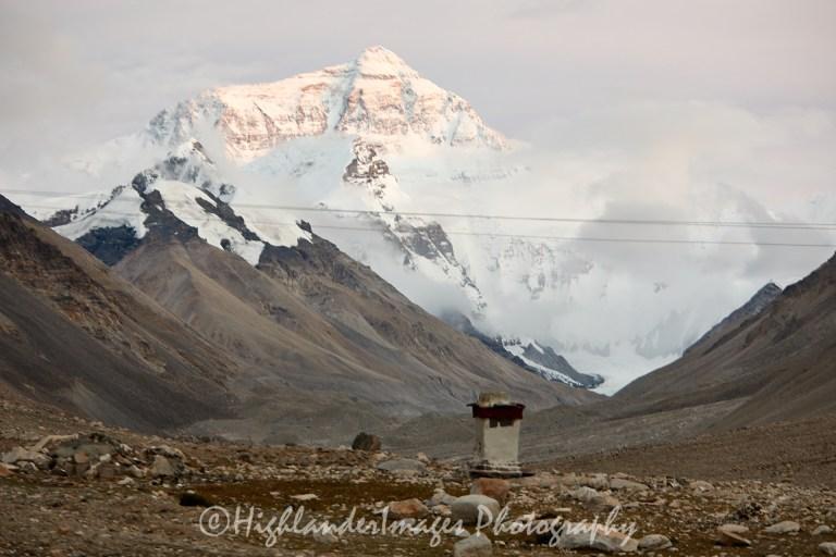 Mount Everest from Rongphu Monastery, Tibet