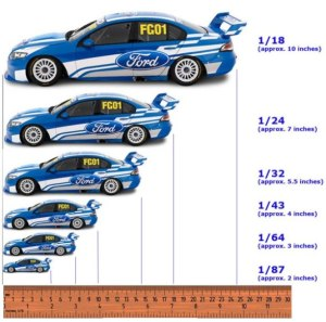 Diecast Scale Chart