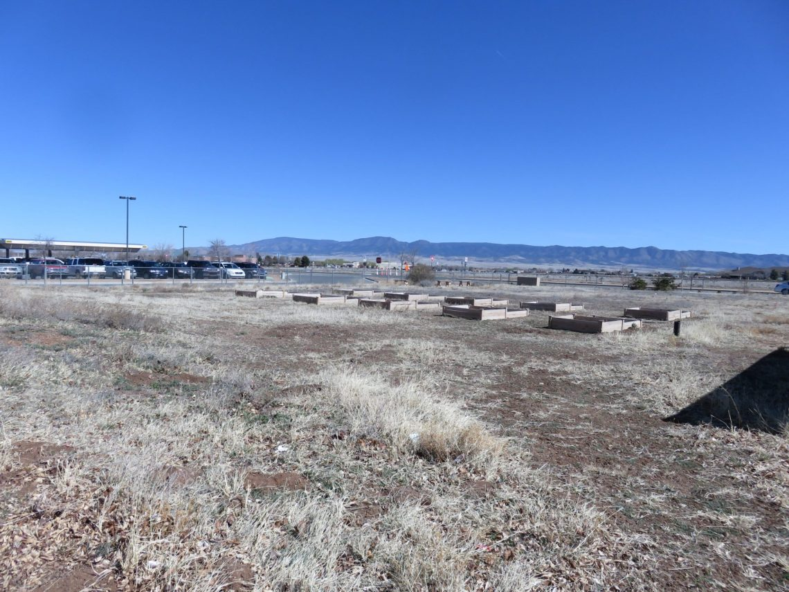 Barren land before a schoolyard habitat garden was built
