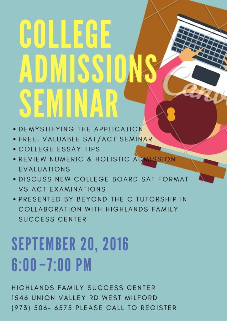 College Admissions Seminar