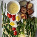 Grilled romaine salad recipe with lemon pine nut vinaigrette