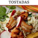 Shrimp tostadas with cabbage slaw