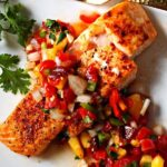 Salmon Fillets with Chipotle Peach Salsa