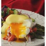 Crab and asparagus eggs benedict