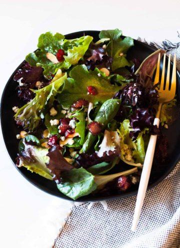 Louisiana Sunburst Salad served on a black salad plate from target