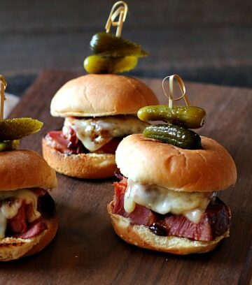 Instant Pot Glazed Corned Beef Sliders. An Irish inspired sandwich for St. Patriick's Day.