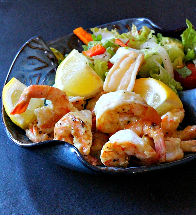 Dijon Honey Shrimp, grilled and glazed