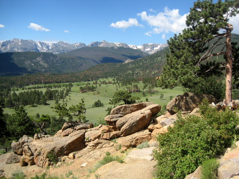 Camping at Moraine Park, Rocky Mountain National Park, Colorado