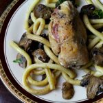 Chicken Galliano with Mushrooms and Pasta