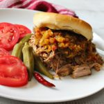 Crock Pot Colorado Chow Chow Pulled Pork Sandwiches. A delicious way to feed a crowd.