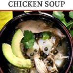 Rotisserie chicken soup with potaotes