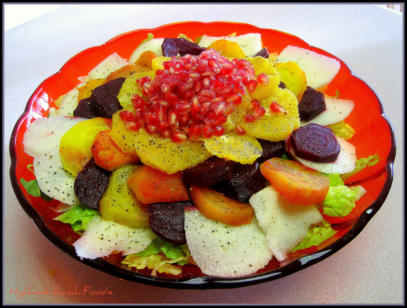 A traditional Mexican Christmas Salad. A Mexican salad recipe for your Mexican Themed Dinner