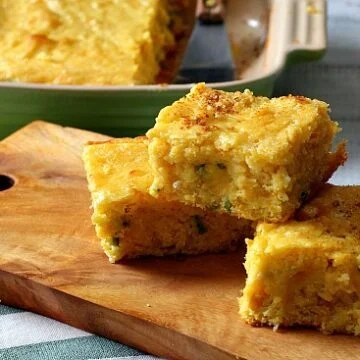 Super moist jalapeno buttermilk corn bread recipe. You'd swear there was pudding in the recipe.