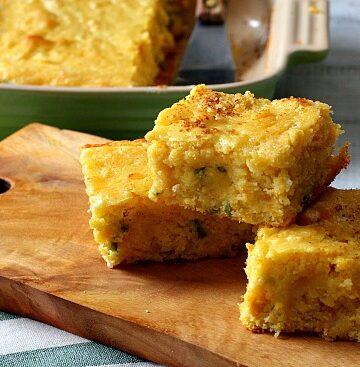 Super moist jalapeno buttermilk corn bread recipe. You'd swear there was pudding in the recipe.